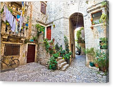 Old Stone Street Of Trogir Canvas Print