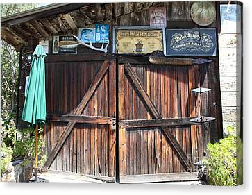 Old Storage Shed At The Swiss Hotel Sonoma California 5d24457 Canvas Print by Wingsdomain Art and Photography