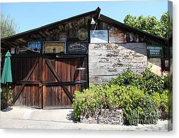 Old Storage Shed At The Swiss Hotel Sonoma California 5d24458 Canvas Print by Wingsdomain Art and Photography