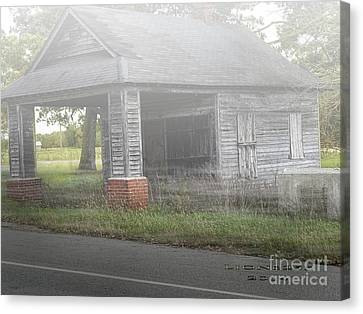Canvas Print featuring the digital art Old Store by Melissa Messick