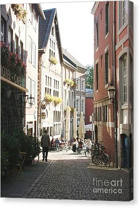 Old Street Aachen Germany Canvas Print by Anthony Morretta