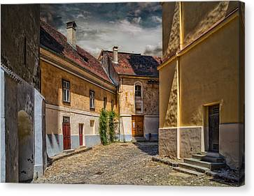 Old Street Canvas Print by Dobromir Dobrinov
