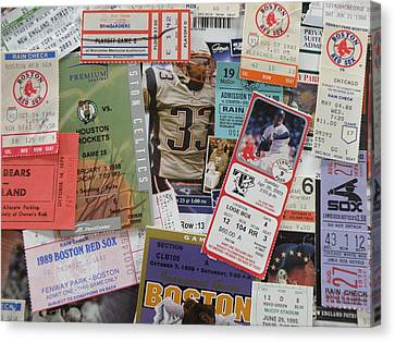Old Stubs Canvas Print by Barry Fineberg