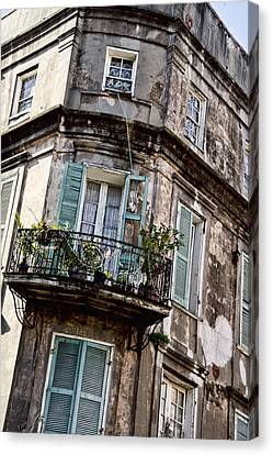 Old Style French Quarter House Canvas Print by Alicia Morales