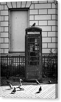 Old Telephone Box Canvas Print by Jim Orr