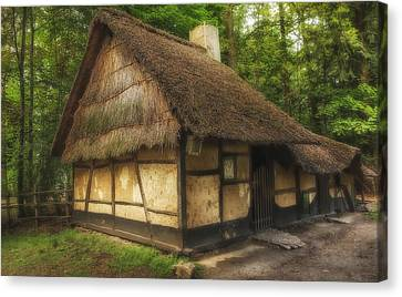 Old Thatched Homestead Canvas Print