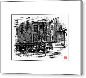 Old Time Caboose Canvas Print by Ken Evans