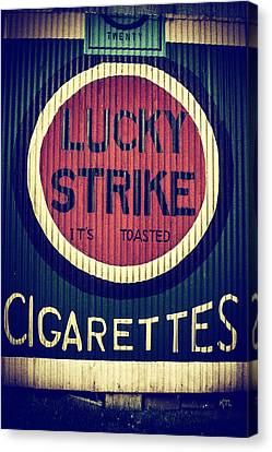 Old Time Cigarettes Canvas Print