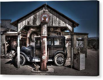 Old Time Gas Station - 1927 Dodge Canvas Print