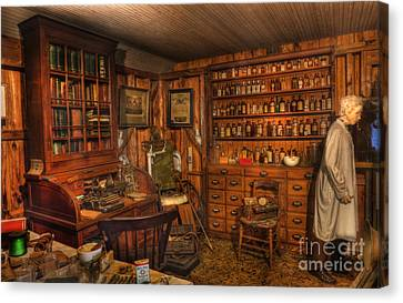 Old Time Pharmacy - Pharmacists - Druggists - Chemists   Canvas Print by Lee Dos Santos