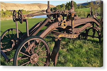 Old Timey Grader Canvas Print by Eric Nielsen