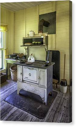 Old Timey Stove Canvas Print by Lynn Palmer