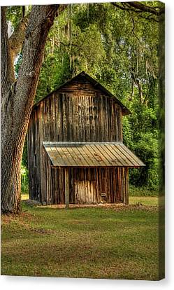 Old Tobacco Barn Canvas Print by Donald Williams