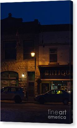 Old Town At Night Canvas Print by Cheryl Baxter