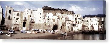 Old Town, Cefalu, Sicily, Italy Canvas Print