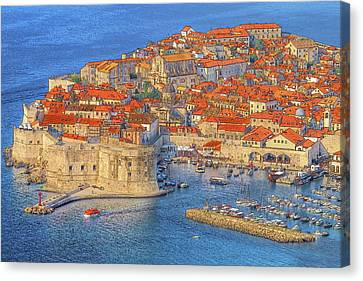 Clay Canvas Print - Old Town Dubrovnik by Douglas J Fisher