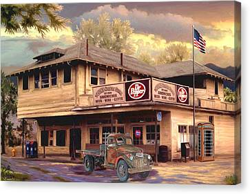 Old Town Irvine Country Store Canvas Print