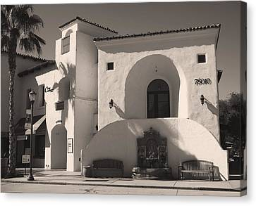 Benches Canvas Print - Old Town by Laurie Search
