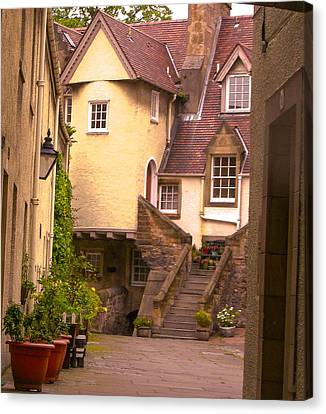 Old Town Lodging Canvas Print
