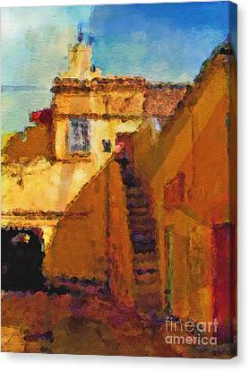 Old Town Canvas Print by Lutz Baar