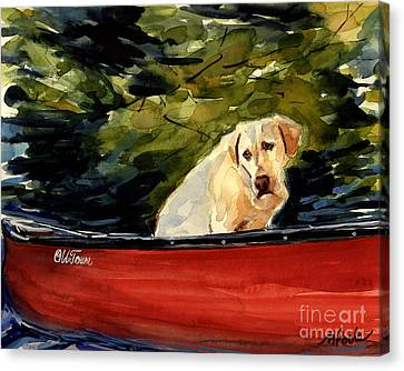 Labradors Canvas Print - Old Town by Molly Poole