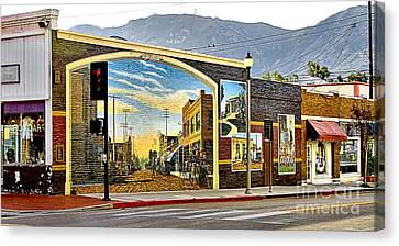 Old Town Mural Canvas Print by Jason Abando