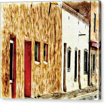 Judge Roy Bean Canvas Print - Old Town New Mexico by Barbara Chichester