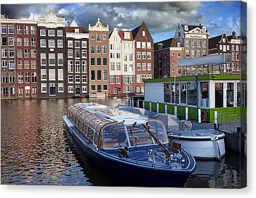 Old Town Of Amsterdam In Netherlands Canvas Print by Artur Bogacki