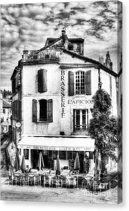 Old Town Of Arles 2 Bw Canvas Print by Mel Steinhauer