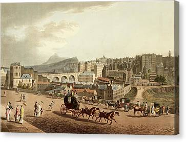 Old Town Of Edinburgh Canvas Print by British Library