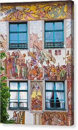 Old Town Painted Building, Konstanz Canvas Print by Panoramic Images