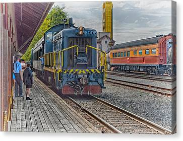 Canvas Print featuring the photograph Old Town Sacramento Railroad by Jim Thompson