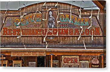 Old Town Saloon Canvas Print