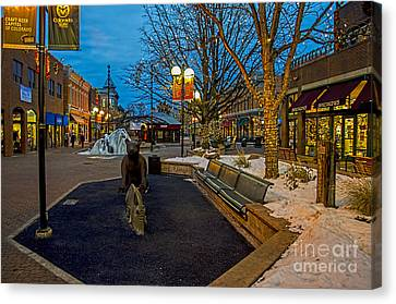 Old Town Snow Canvas Print by Keith Ducker