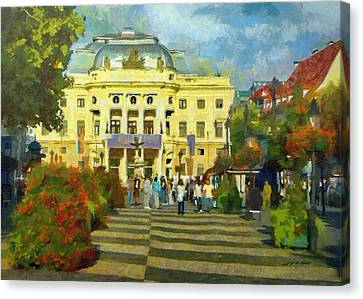 Old Town Square Canvas Print by Jeffrey Kolker