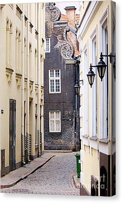 Old Town Street Canvas Print by Gene Mark