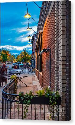 Old Town Sunset Canvas Print