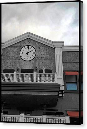 Old Town Temecula - The Clock Canvas Print by Glenn McCarthy
