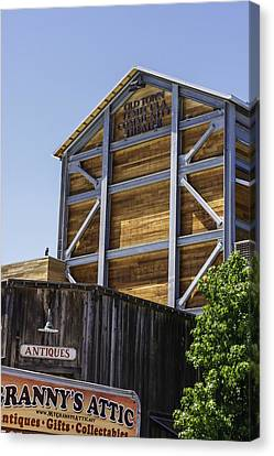 Old Town Temecula Theater Canvas Print by Karen Stephenson