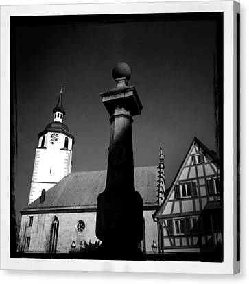 Old Town Waldenbuch In Germany Canvas Print by Matthias Hauser