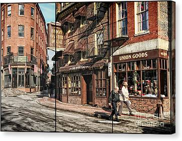 Old Towne Boston II Canvas Print