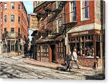Old Towne Boston Canvas Print by Mary Lou Chmura