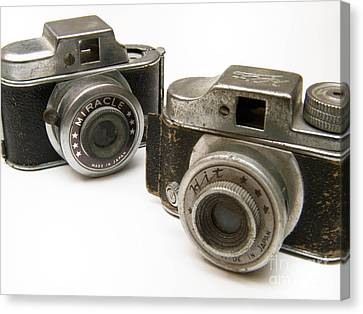 Old Toy Cameras Canvas Print by Amy Cicconi