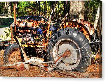 Old Tractor 01 Canvas Print by Andy Savelle