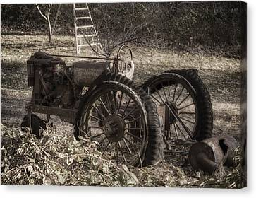 Canvas Print featuring the photograph Old Tractor by Lynn Geoffroy
