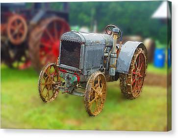 Old Tractor Print Canvas Print by B Wayne Mullins