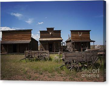 Pioneers Canvas Print - Old Trail Town by Juli Scalzi