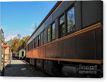 Old Train Coach Canvas Print by Malu Couttolenc