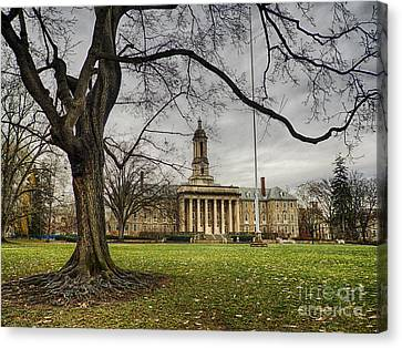 Old Tree At Old Main Canvas Print by Mark Miller