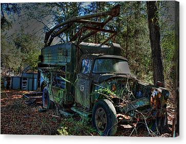 Old Truck 01 Canvas Print by Andy Savelle